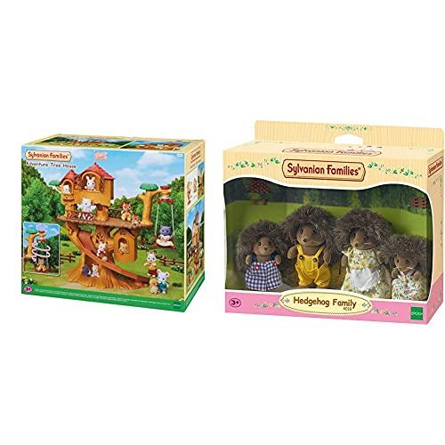 SYLVANIAN FAMILIES Casa De Aventuras En El Árbol Doll House (Epoch para Imaginar 05494) + 4018 Familia Erizo
