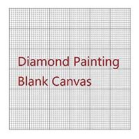 OneHippo ダイヤモンドペインティング キャンバス 刺繍 キャンバス 糊付き キャンバス ラウンド/正方形 空白グリッド キャンバス 空白 カスタマイズ可 ペインティングツール付き 40x50CM-10PCS