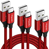 etguuds Câble USB C [0.3m+1m+1.8m, Lot de 3] Ultra Résistant Nylon Cable Chargeur Type C, Charge...