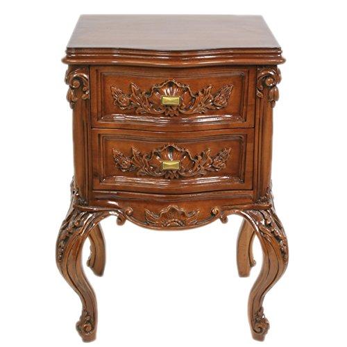 Casa Padrino Barock Kommode Mahagoni H 70 cm, B 50 cm, T 40 cm - Nachttisch Kommode - Italienische Stil Möbel