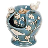 bits and pieces - ceramic birds fountain - zen tabletop water fountain