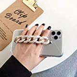 LIUYAWEI Marble Wristband Chain Clear Phone Case para iPhone 12 11PRO X XR XS MAX 6S 7 8 Plus Funda de Moda de Lujo Suave para Samsung S8,3, para iPhone 6 6S