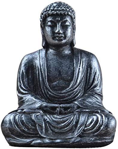 Bcaer Kleine Buddha-Statue 7.5cm Buddha-Statue Buddha-Statue-Dekoration-Harz Meditation Kleine Buddha-Statue for Garten-Ausgangsdekoration Shakyamuni Buddha, drei Schätze, Drei Buddhas
