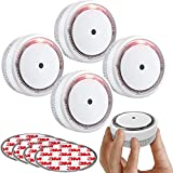 SITERWELL Smoke Detector , Photoelectric Technology Smoke Alarm with 10 Year Life Time, Small Fire Alarm with Built-in Battery and Test&Silence Button for House, UL Listed, GS522C-A, 4 Packs
