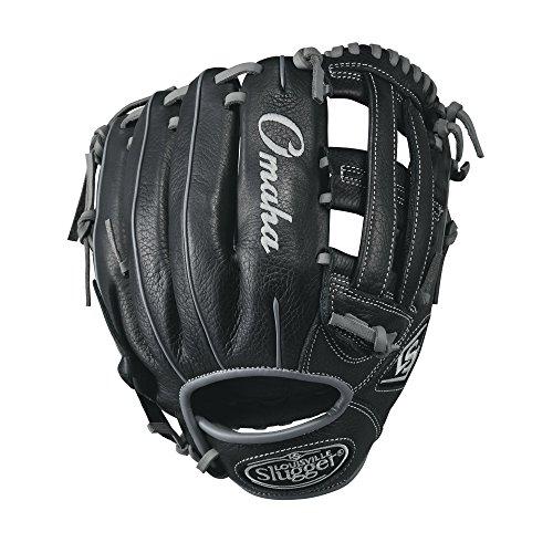 Louisville Slugger Omaha Baseball-Handschuh, 29,2 cm, Schwarz/Grau