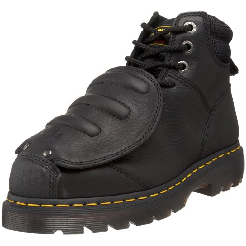 Dr. Martens Men's Ironbridge MG ST Steel-Toe Met Guard Boot,Black,8 UK/9 M US