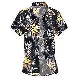 Funky Chemise Hawaïenne Homme Slim Fit Manche Courte Grande Taille T-Shirt À Manches Courtes Chemise Homme avec Encolure Tee-Shirt décontracté Casual 3D Imprimé Tee Shirt vêtements Homme en Solde G