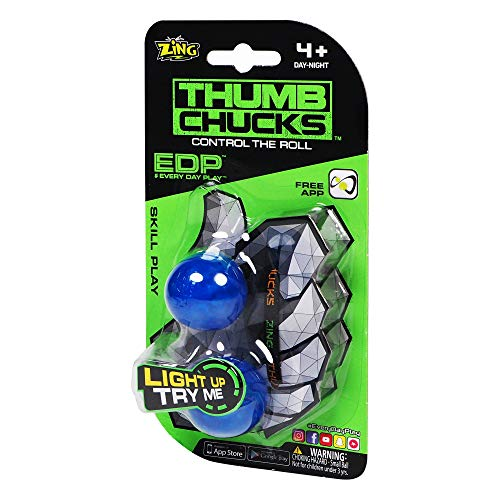 Zing Thumb Chucks - Colors May Vary - Fidget Toys for anxiety , great for boys and girls, Blue (4546436)