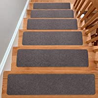 """YESURPRISE Carpet Stair Treads Set of 15, Non-Slip Soft Stairway Carpet Rugs 8"""" x 30"""", Safety for Kids, Elders and Pets–..."""