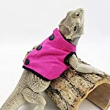 WATFOON Lizard Clothes Vest for Bearded Dragons Reptile Hoodies Costume Sweater T-Shirt for Small Animal Skin Protection Photo Party (M, Hot Pink)