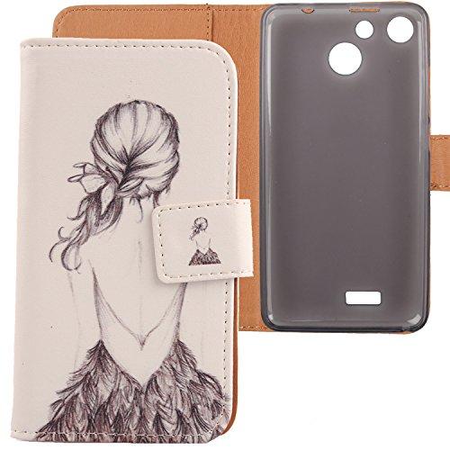Lankashi PU Flip Leder Tasche Hülle Hülle Cover Schutz Handy Etui Skin Für Archos 50b Cobalt/Archos 50f Helium/Archos 50f Helium Lite 5