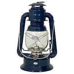 Dietz Lampe à pétrole oiginal lanterne de tempête Wizard, bleu marine, hauteur 29,2 cm