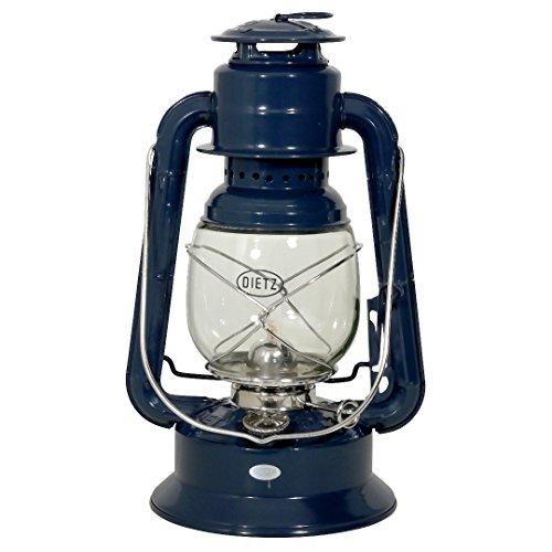 Dietz Petroleumlampe oiginal Sturmlaterne Wizard, Marineblau, Höhe 29,2 cm