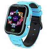 Niños Smartwatch con Video MP3 Player, Reloj inteligente con 7 Juegos, SOS, Reproductor Música, Cámara, Reloj Despertador, Calculadora, Grabadora, Reloj para Niños 4 a 12 años, Regalos de Cumpleaños