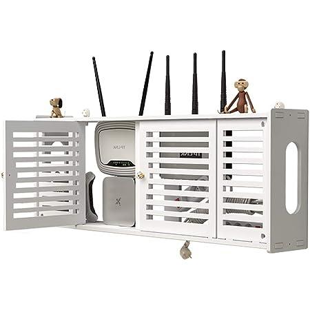 Good decoration WiFi Set-Top Box Rack Multimedia Cable Blindaje Caja De Pared De TV Router Inalámbrico Caja De Almacenamiento Libre De Agujeros