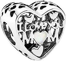 Pandora Women's Love for Mother Charm - 792067EN23, Sterling Silver