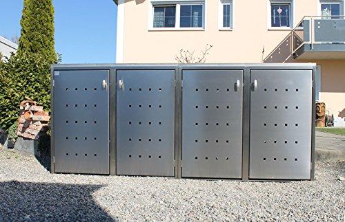 Resorti Mülltonnenbox Basic Edelstahl Kombi 4er 120 / 240 Liter