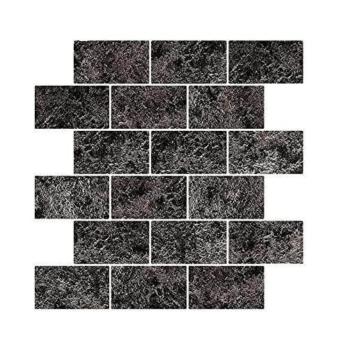 10 piezas Pegatinas de Baldosas, PVC Adhesivo para Azulejos Impermeable Calcomanías Autoadhesivas de Vinilo Azulejos Adhesivo de Pared para Cocina y Baño (30.5 x 30.5 cm)