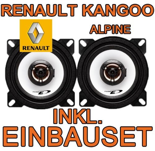 Lautsprecher - Alpine SXE-1025S - 10cm Koaxsystem für Renault Kangoo 1 - JUST SOUND best choice for caraudio
