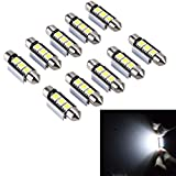 PolarLander 10pcs 2SMD Canbus 36mm 5050 LED C5W Led Dome Lights Lampes de plaque...