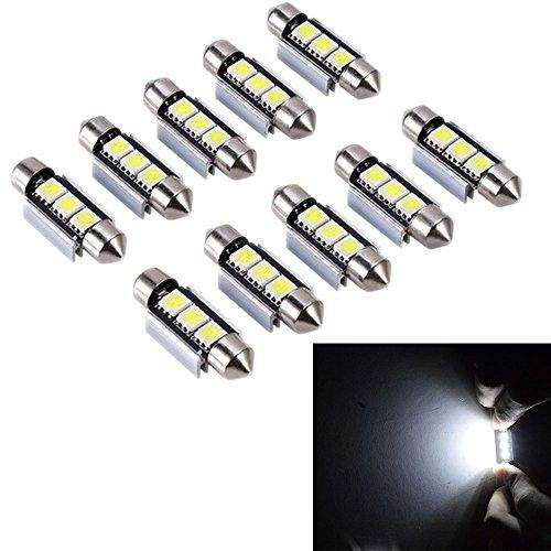 PolarLander 10pcs 2SMD Canbus 36mm 5050 LED C5W Led Dome Lights Lampes de plaque d'immatriculation Sourcing Ampoules de lecture Lampe de toit