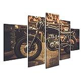 islandburner Bild Bilder auf Leinwand Vintage Motorrad