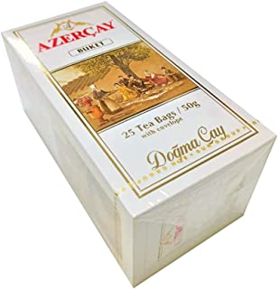 Black Tea Buket Dogma Cay from Azerbaijan 25 Tea Bags Envelope 50g (Azercay)