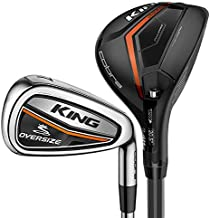 Mint Cobra King Oversize Combo Iron Set 3H 4H 5H 6-PW GW UST Mamiya Recoil ES 460 Graphite Regular Right Handed 37.5in