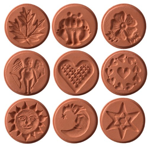 JBK Pottery Unique Cookie Stamps - Full Set of 9 Designs