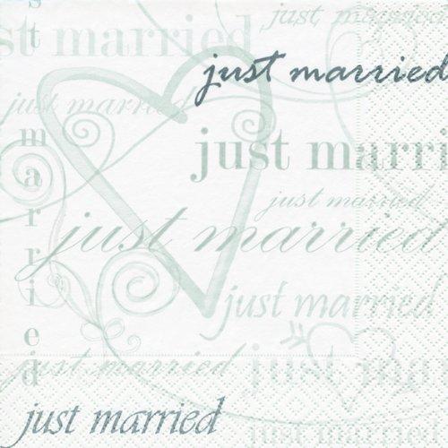 20 Servietten Wedding Time – Zeit zu heiraten/Hochzeit/Just Married 33x33cm