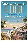 AMELIA SHARPE Blechschild Miami Beach Florida, Vintage,