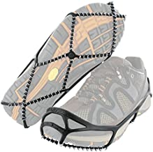 Yaktrax Walk Traction Cleats for Walking on Snow and Ice (1 Pair), Large , Black