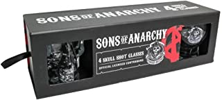 Sons of Anarchy 4 Skull Shot Glasses
