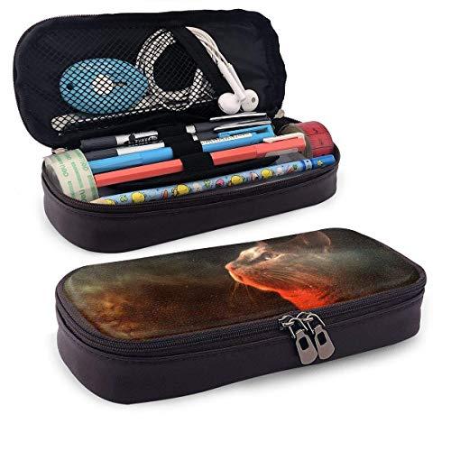 XCNGG Estuche para lápices neceser Cats in Space Pencil Case Big Capacity Pen Case Desk Organizer with Zipper - 8x3.5x1.5 Inches