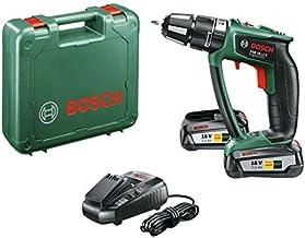 Bosch 0 603 9B0 301 Atornillador taladrador de percusión a batería de litio 45 W, 18 V, Negro, Verde, Percutor