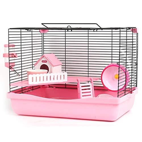 Jaula de hámster Casa del hámster Hamster Villa Azul Transparente Jaula Portátil Y Realizacion Cría Castillo Suministros Nido Jaula del Animal Doméstico