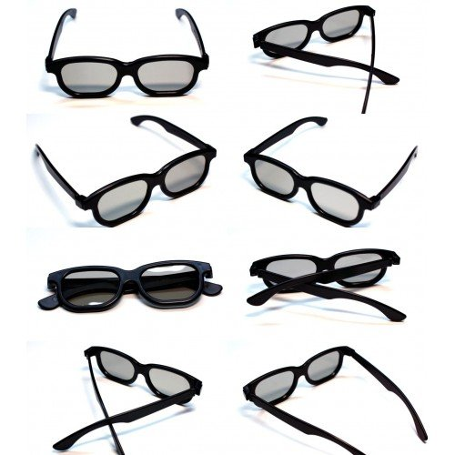 Rheme 10 x Newest Latest 3D Glasses for 3D Passive LG Panasonic Sony TVs Monitor Passive 3D