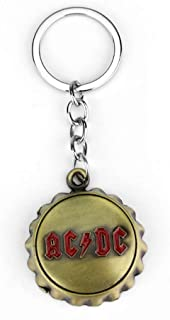 Iron Lady Sign Keychain ACDC English Letter Can Opener Pendant