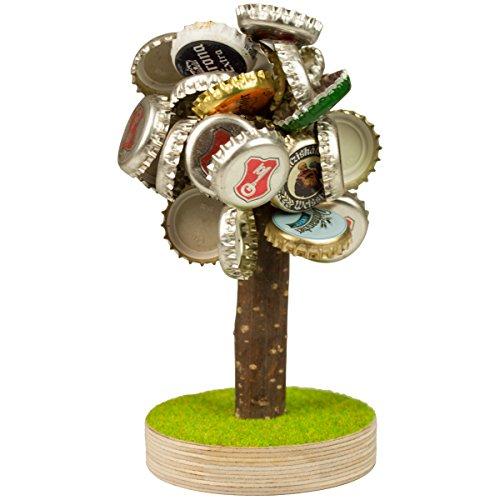 Geschenke 24 Bierbaum mit Magneten ohne Gravur für Kronkorken - lustiges Geschenk für Männer - Geburtstagsgeschenk für Väter - witziges Geschenk zu Weihnachten