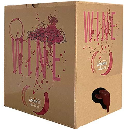 Bag In Box | 5 Litri Aglianico Neos | Vino Rosso Campania | Cantina Firosa | 1 Ricariche da 5 Litri | Valigetta Cartone Salvaspazio