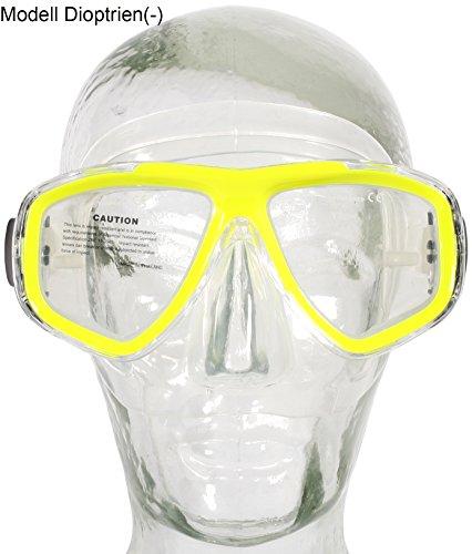 Aqua Speed Optic Tauchmaske Schnorchelbrille mit Sehstärke +1,75; +2,25; +2,75 und -1,5 bis -8,5, Sehstärke Taucherbrille:-2.5, Brillenfarbe:gelb / 18