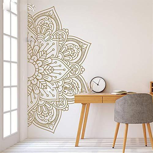 allah wandtattoo groß Mandala in halber Größe Ornament marokkanischen Yoga Thema Aufkleber Studio Dekoration Wand Kunst Dekor für Zuhause für Yoga Studio
