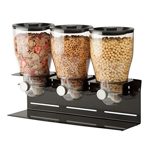 Zevro KCH-06150 Indispensable Dry Food Dispenser, Triple Control, Black