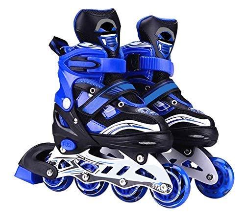 RIVET ENTERPRISE Inline Skates Size Adjustable All PU Wheels with Aluminum-Alloy, LED Flash Light, Age Group 6-14 Years