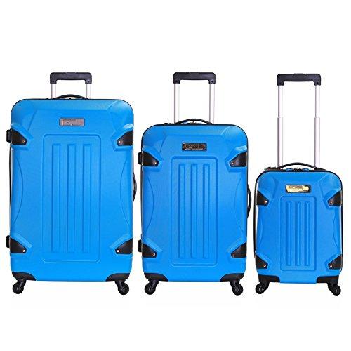 Ossett set di 3 valigie rigide, Blu