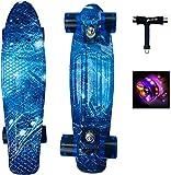 skateboard Skateboard Mini planche à roulettes 22 pouces avec roues lumineuses Skateboard complet...