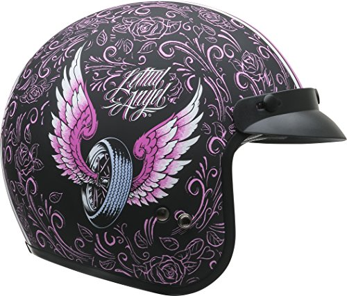 Vega Helmets Unisex-Adult Open Face Motorcycle Helmet (Lethal Angel Graphic, X-Large)