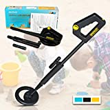 all-sun Junior Metal Detector for Children DIY Beach Yard Toy, Black