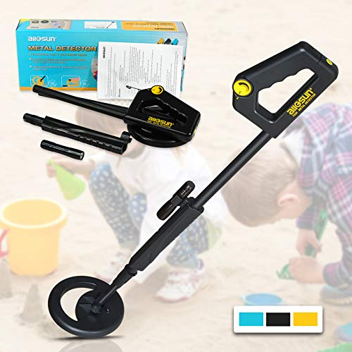 all-sun Junior Metal Detector for Children DIY Beach Yard Toy, Black