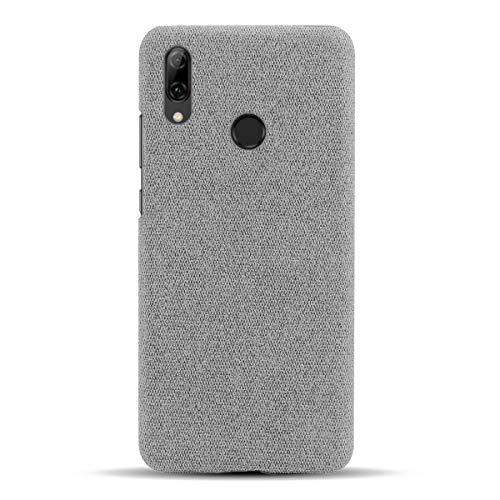 Suhctup Compatible con Google Pixel 2 XL Funda de Tela Tejida de Color Sólido TPU Forrada Premium de Carcasa Simple Moda Antideslizante Antigolpes Anti-arañazos Protección Caso(Gris Claro)